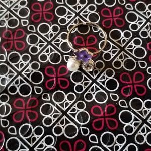 Paparazzi Accessories - Paparazzi Pearl Flower Fake Diamond Ring